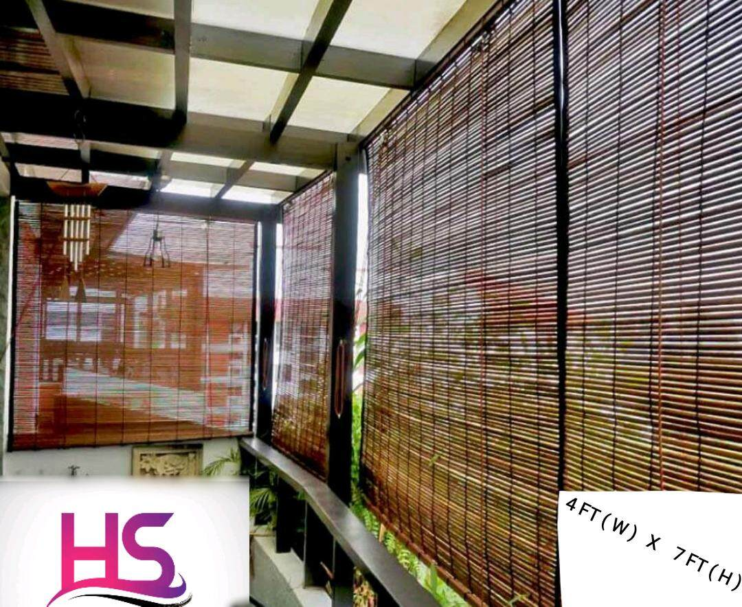 bamboo outdoor blinds 4ft w x 7ft h natural