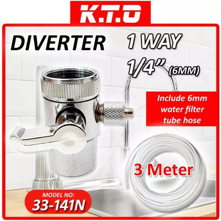 stainless steel kitchen sink faucet tap adapter valve hose connector diverter 1 way 1 4 33 141n 6mm water filter tube hose
