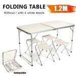 47 120cm Aluminum Folding Table Camping Picnic Bbq Party Garden 4 Folding Stools Home Lazada