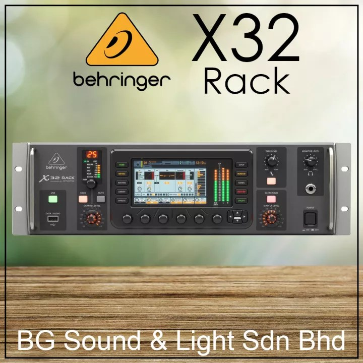 ship out everyday behringer x32 rack 40 input 25 bus digital mixer with 16 microphone preamps