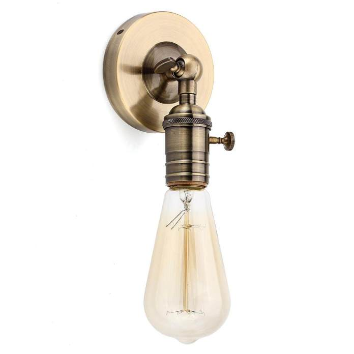 【Free Pengiriman + Flash Deal】 E27 Edison Modern Lampu Plafon Klasik Lampu Dinding Soket Tempat Lampu Pijar Tempat Lilin
