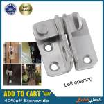 Bolehdeals Slide Bolt Latch Gate Latches Safety Door Lock 40x45mm Stainless Steel Brushed Finish With Padlock Hole