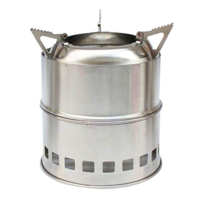 Penjual Terbaik Portabel Baja Anti Karat Kompor Kayu Lipat Kompor Alkohol Tahan Angin Piknik Panggangan Oven Kompor Luar Ruangan Persediaan Piknik Luar Ruangan