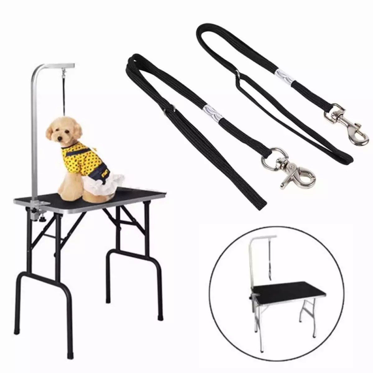 Beauty Table Stand Sling Traction Belt Beauty Table Lanyard Elevator Accessories Pet Supplies Adjustable Dog Cat Grooming Table Arm Bath Restraint Rope Harness Noose Loop Lazada