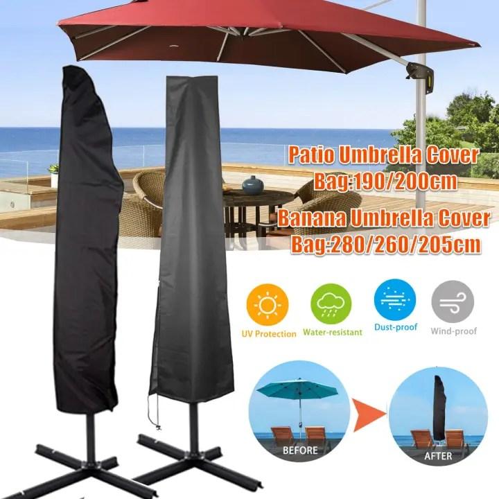 heavy duty outdoor garden patio umbrella protective cover bag waterproof canopy with zipper