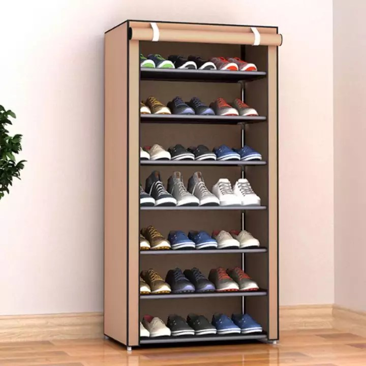 delly 8 layers shoes cabinet shoe rack fabric minimalist multi layer dustproof cloth shoe cabinet diy combination assembly shoe storage rack household