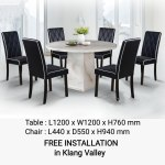 Q 10 1 6 Marble Top Dining Set 6 Seater Marble Dining Table Set Marble Top Dining Table Table With 6 Chairs Marble Dining Set 6 Seater Round Marble Dining Set 1 6 Round Marble Dining Set Lazada