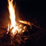 christmas camp fire