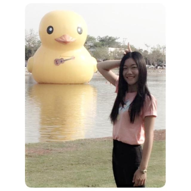 Udon Thani duck with one of my former students. Thx for that :-)