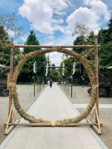 浅草神社の茅輪くぐり