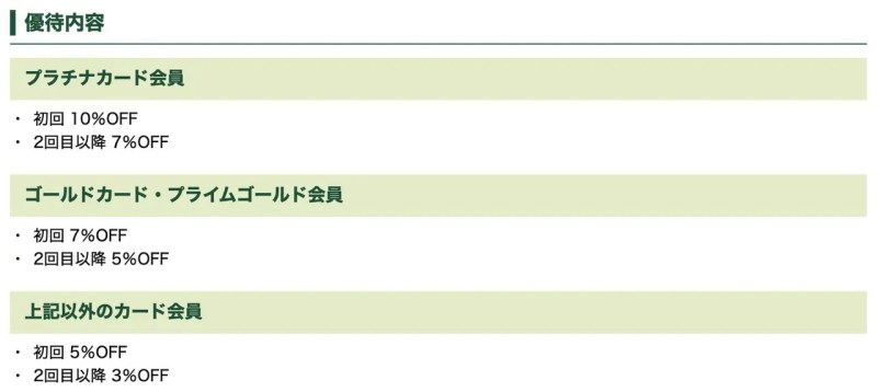 三井住友カード「プライムゴールドカード以上」で何度でも使える5〜7%割引クーポン