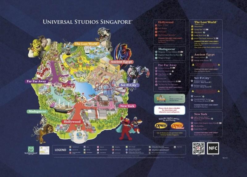 ユニバーサルスタジオシンガポールのマップ
