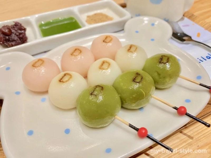 リラックマ茶屋では「唐揚げカレー+三色だんご」のKKday特別セットを食べました