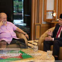 Sultan Ibrahim terima mengadap Wan Junaidi