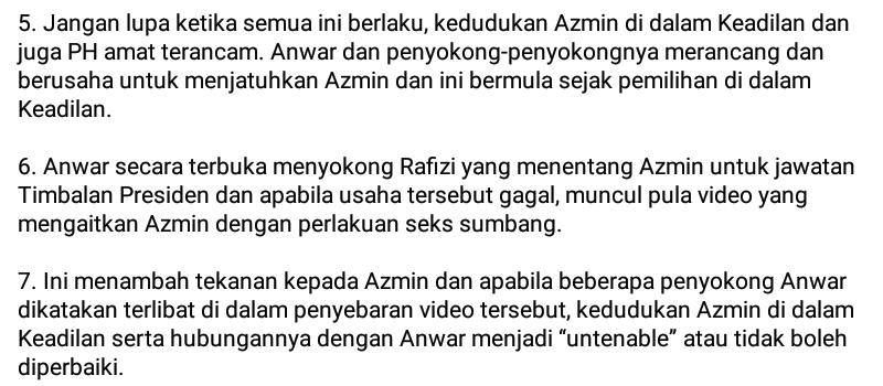 Mahathir vs Azmin