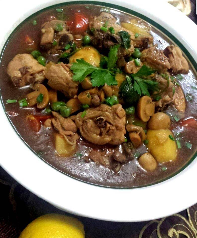 Resepi Stew Ayam & Roti Bawang Putih