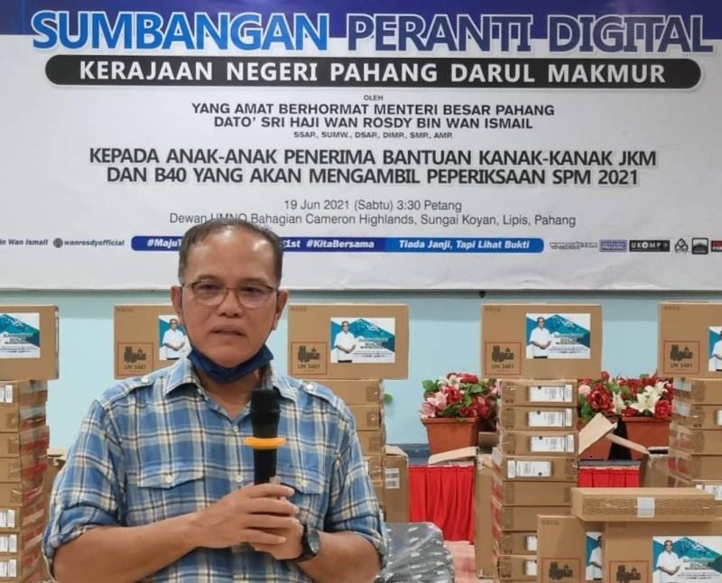 Pahang Sumbang Peranti Digital Kepada Pelajar SPM2021