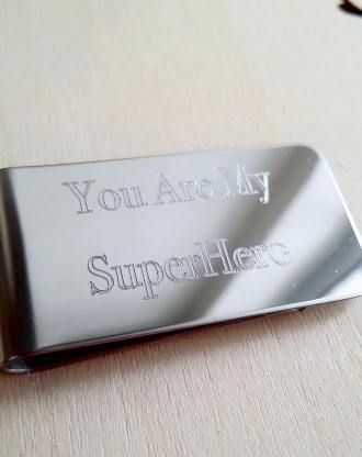 Custom Money clip, Engraved Money clip, Personalized gift for him, Groomsmen Gift, Daddy daughter Gift, child drawing, Actual handwriting.