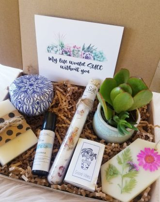 My life would SUCC without you gift box, Thinking of you box, care package, spa gift box, send a gift, best friend gift, natual pamper gift.