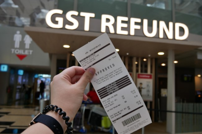 changi airport gst refund