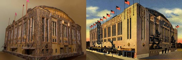 PHOTO: Chicago Stadium & botanical scale model.