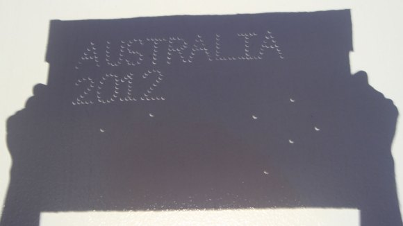 Via Rice Space Institute, a fun way to commemorate an eclipse: make a pinhole sign and photograph its shadow.