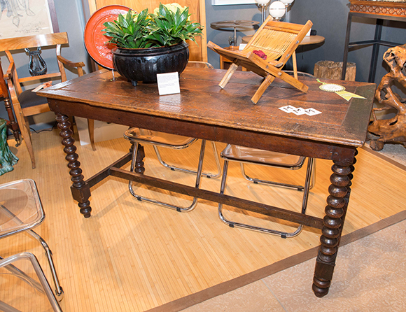Booth #212, Marona: A late 1700s French table made from European oak.