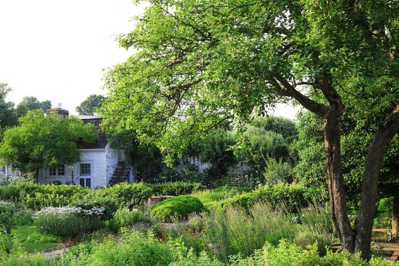 PHOTO: Inside the walled garden at Oak Spring Farm.