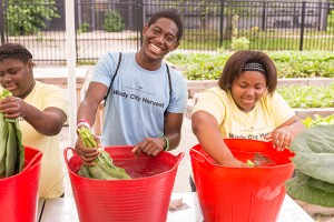 PHOTO: Kids from Dyett High School Windy City Youth Farm 2015.