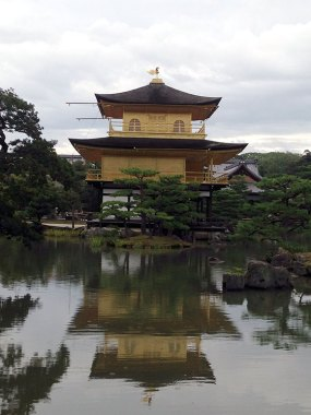 PHOTO: The Golden Pavilion and its reflection.