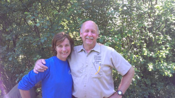 Rebecca Grill, PDHP, and Bob Kirschner, director of Aquatic Plant and Urban Lake Studies