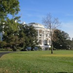 PHOTO: The White House entry drive.