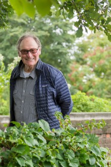 PHOTO: John Brookes, the landscape architect who designed the suite of gardens known as the English Walled Garden.