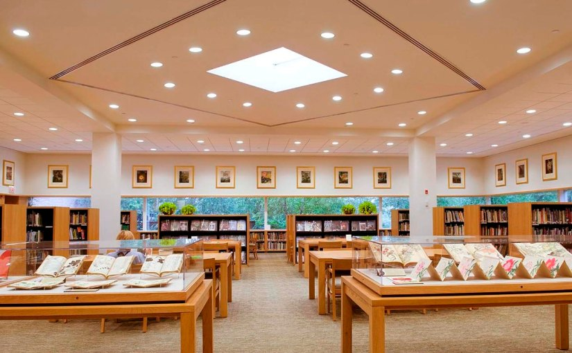PHOTO: A view into the library.