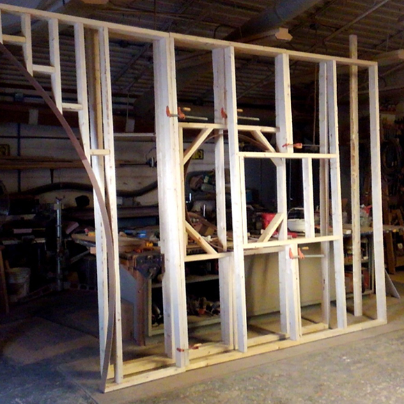 "Frame for the 2018 Orchid Show ""tea house"" entryway"