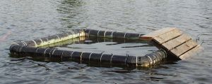 PHOTO: Floating trap for basking turtles.