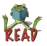 ILLUSTRATION: A cartoon of a frog reading a book.