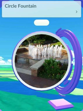 Circle Garden Fountain Pokemon Screenshot