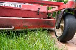 PHOTO: mower blade height check.