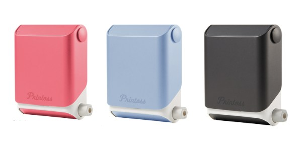 Printoss Instant Camera - available in 3 colours