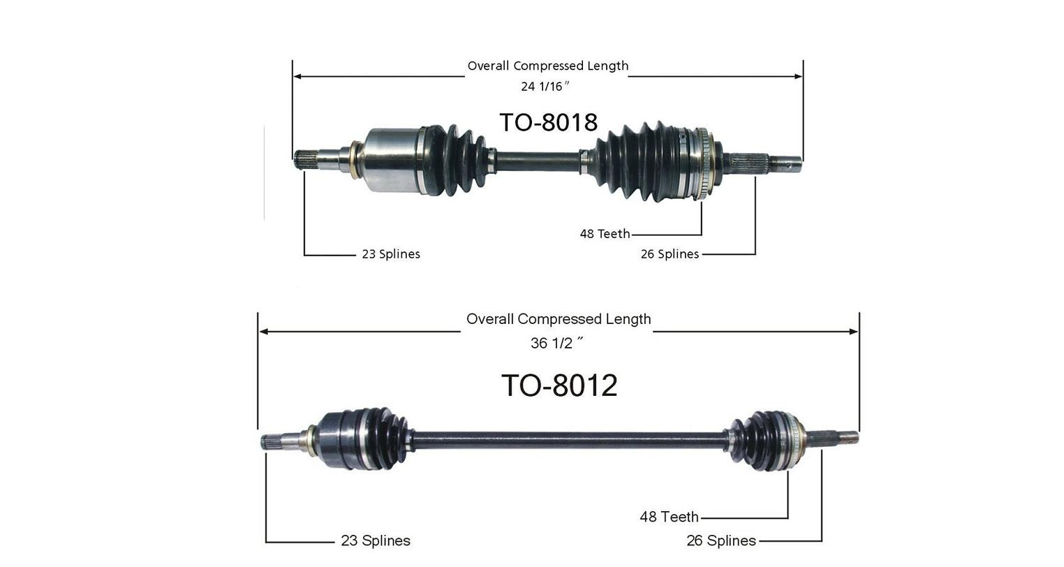 Brand New Cv Axle Shaft Driver Amp Passengers Side Corolla
