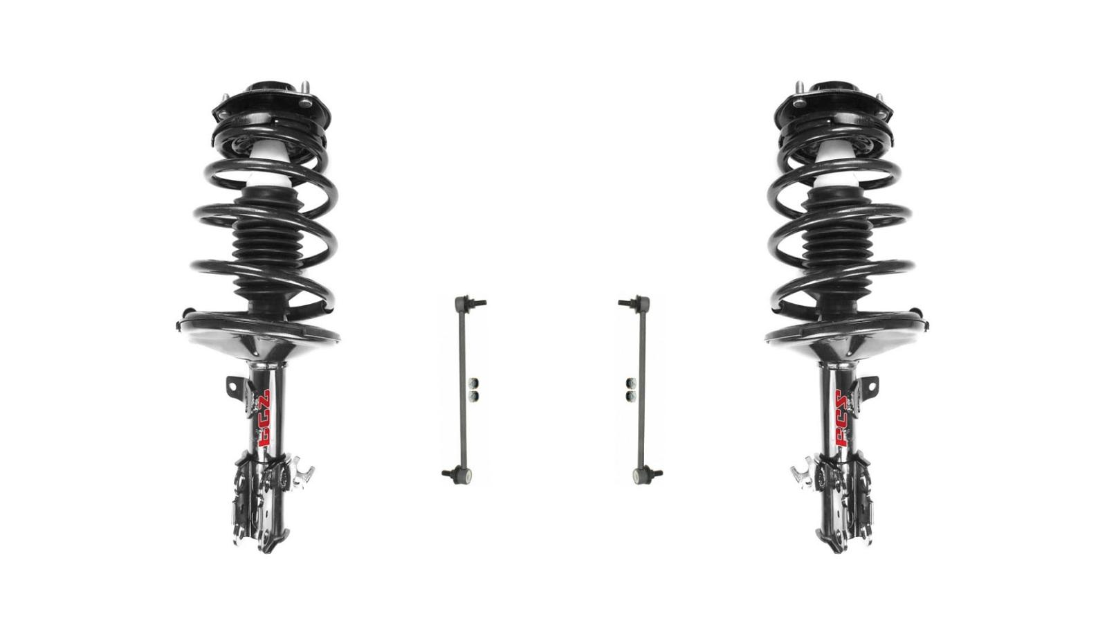 97 01 Camry 2 2 99 03 Solara 2 L Amp R Front Quick Spring Strut And Mount 4pc