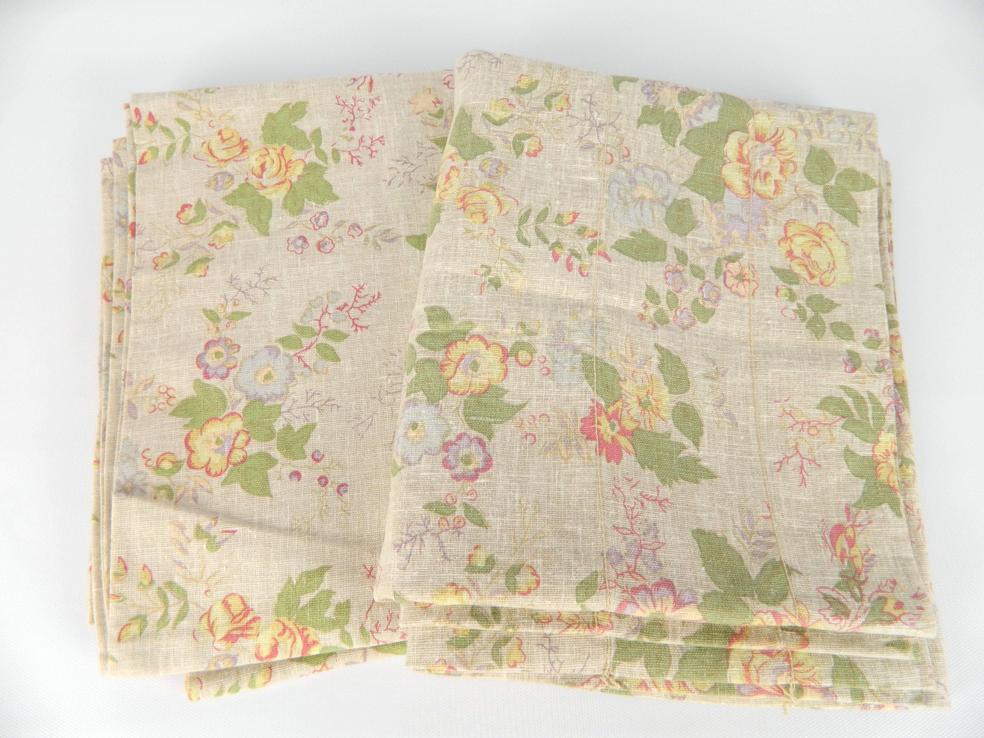 Pair 2 Ralph Lauren Ashleigh Tan Pink Floral 100 Cotton