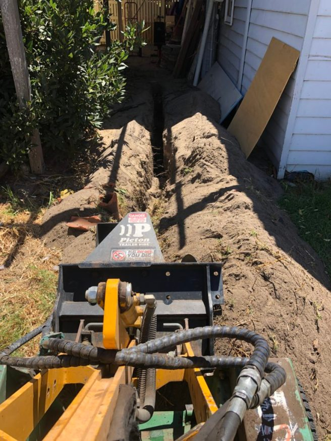 Digging Conduit Trenches