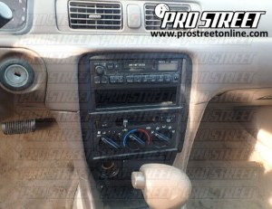 How To Toyota Camry Stereo Wiring Diagram  My Pro Street
