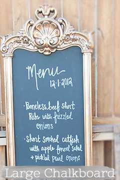 large gold chalkboard