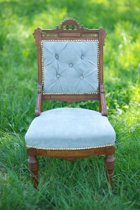 Grey Tufted Chair for Rentl