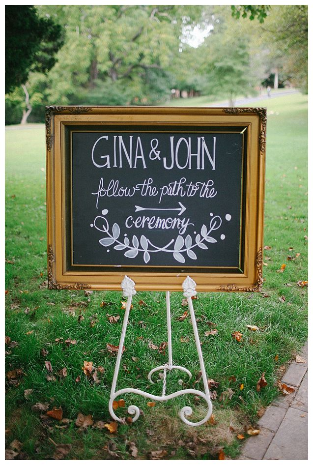 Custom chalkboard calligraphy washington dc