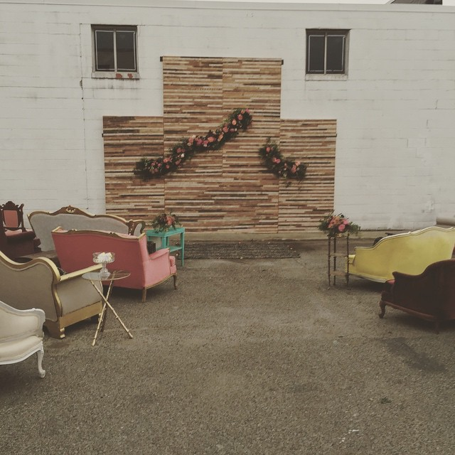 Loving the #reclaimed wall we created yesterday with @annerobert_  and @hollychapple for our surprise wedding! Despite the crazy thunderstorm, we still made it happen with the help of a lot of great friends! #industrial #wedding #dc #dcevents #aCreativeDC #boho #dcweddings #vintage #vintagerentals #build #create #diy