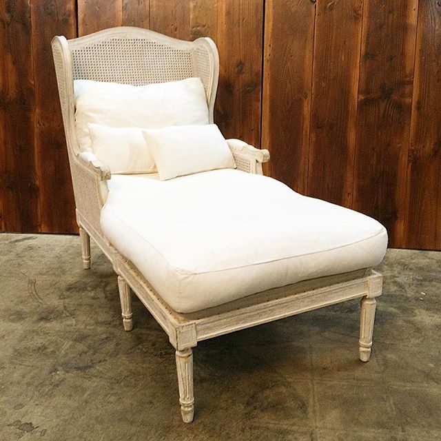 Meet Josephine, the whitewashed French chaise we just added to our inventory!  #svrbeauties #vintage #vintagerentals #vintagefurniture #eventdesign #dc #acreativedc #dcwedding #whitewashed #antique #weddings